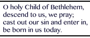 From the hymn O little town of Bethlehem