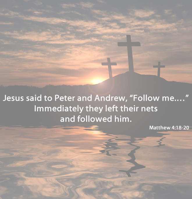 Follow me. Way of the cross.