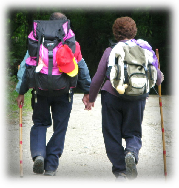 Couple on the Camino de Santiago