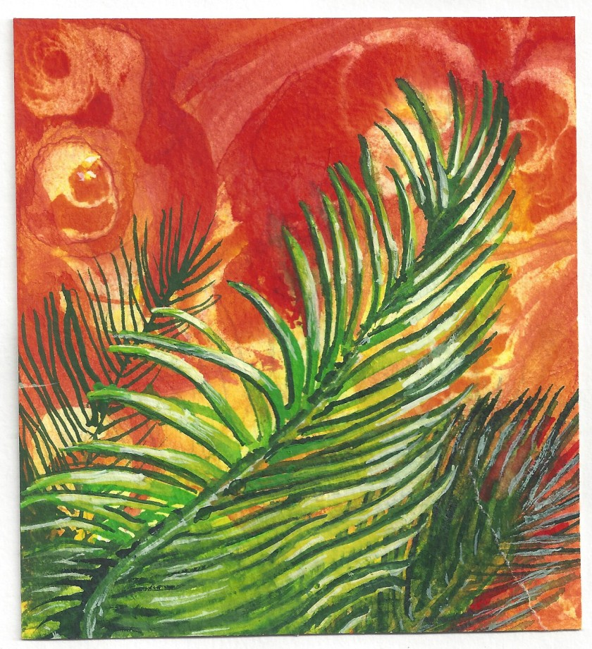 A Palm Sunday Watercolor