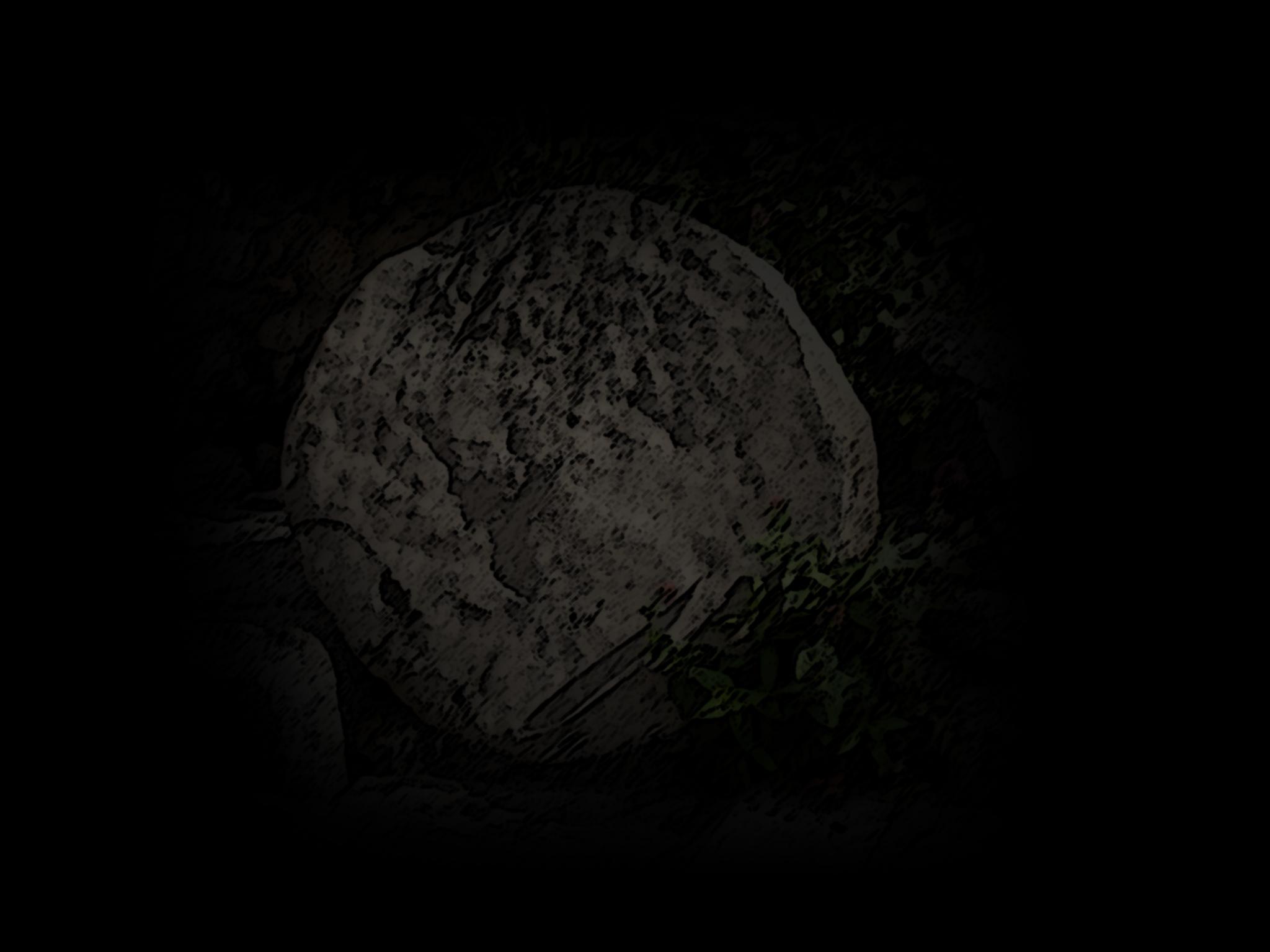Tombstone in the dark of night