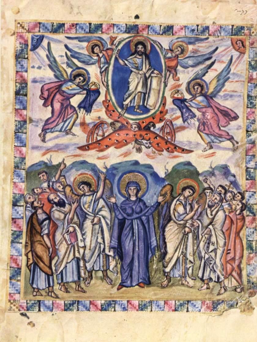 Master of the Rabbula Gospels, The Ascension, 586