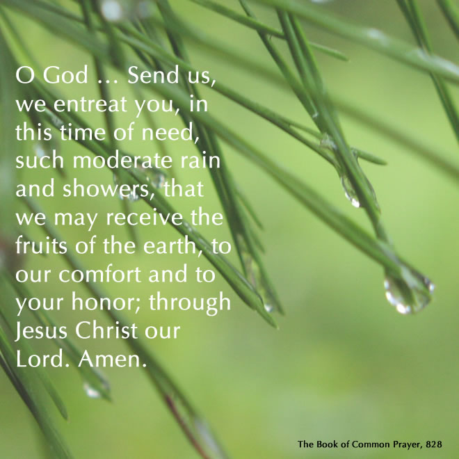 A prayer for rain from the BCP