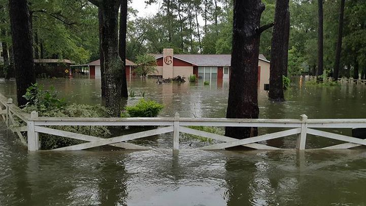 Flooded home after Hurricane Harvey
